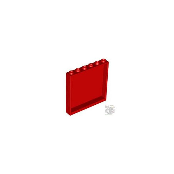 Lego Wall Element 1X6X5, Bright red