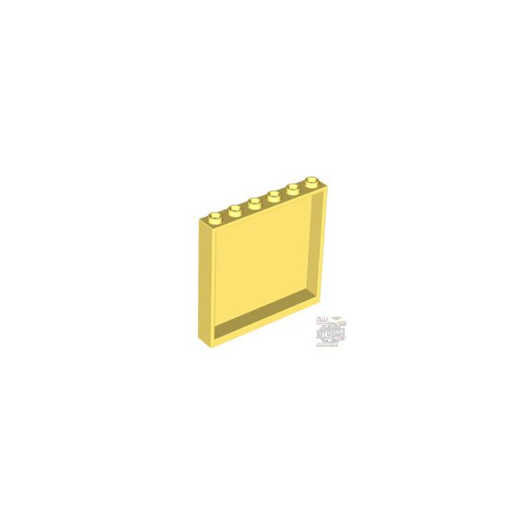 Lego Wall Element 1X6X5, Cool yellow