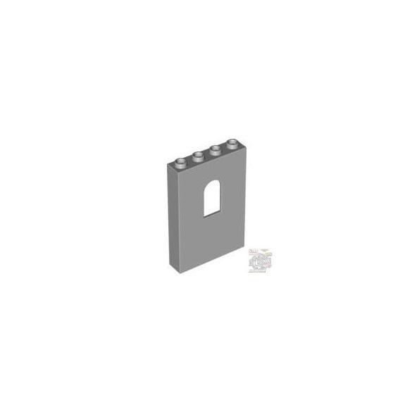 Lego Wall 1X4X5 W-Bowed Slit, Light grey