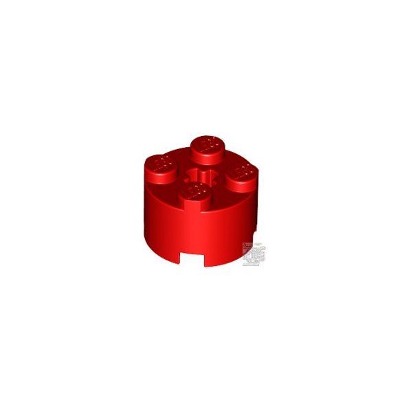 Lego Brick Ø16 W. Cross, Bright red