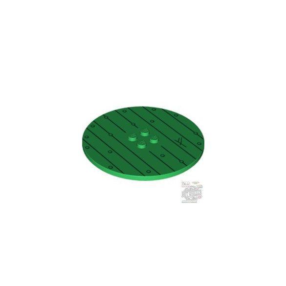 Lego Plate Ø63.84 W. 4 Knobs, Green