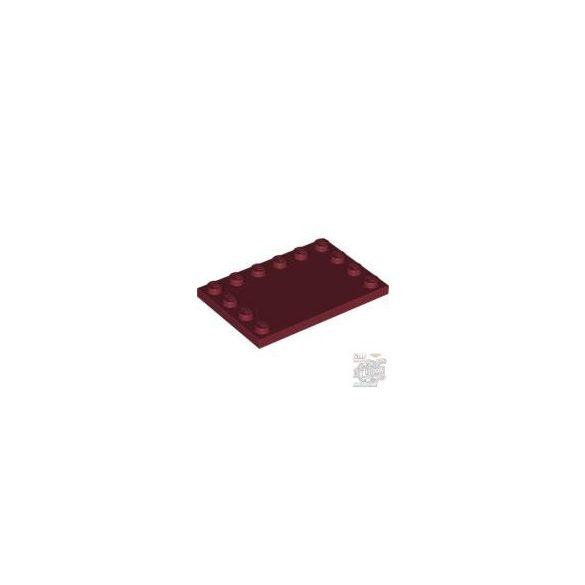 Lego Plate 4X6 W. 12 Knobs, Dark red