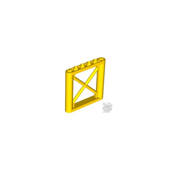 Lego Lattice Wall 1X6X5, Yellow