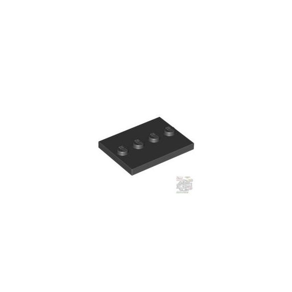Lego Plate Plate 3X4 With 4 Knobs, Black