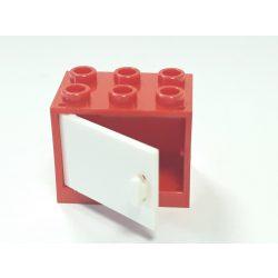 Lego Box / Cupboard 2X3X2, Brigth red-White