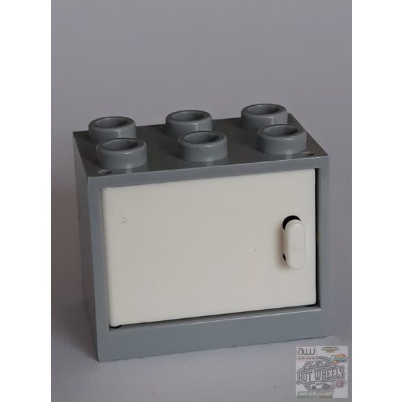 Lego Box / Cupboard 2X3X2, Light grey-White