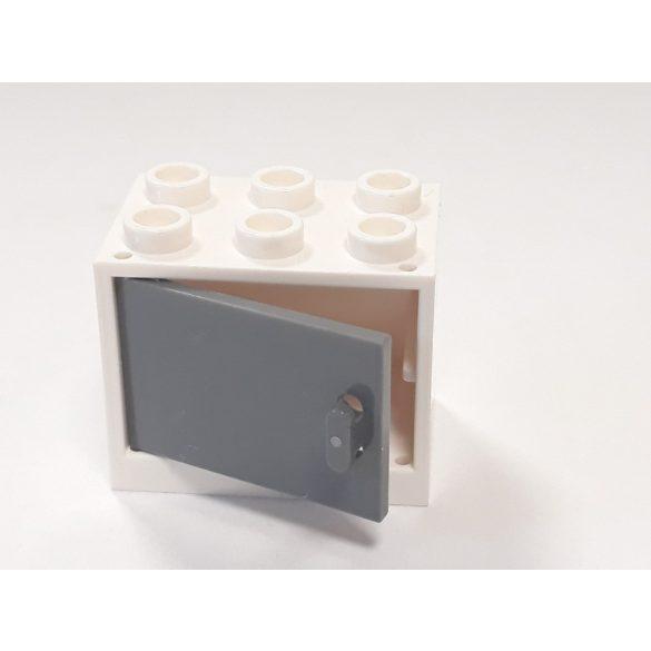 Lego Box / Cupboard 2X3X2, White-Dark grey