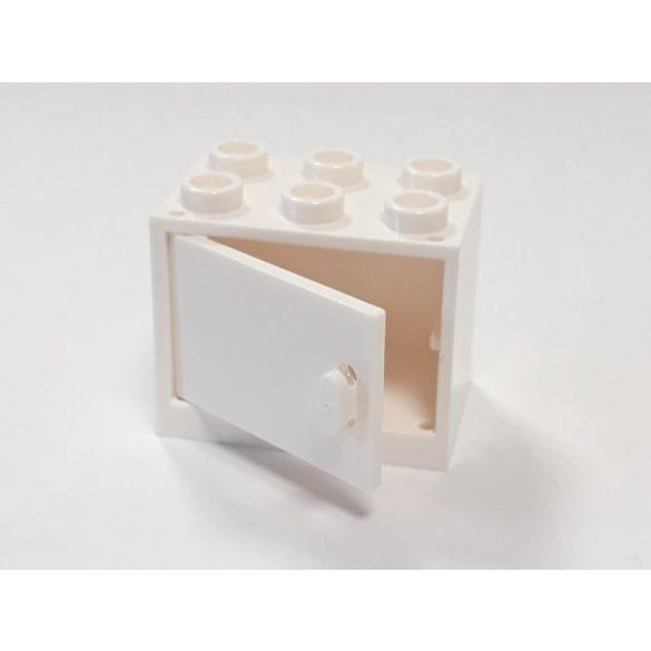 Lego Box / Cupboard 2X3X2, White-White