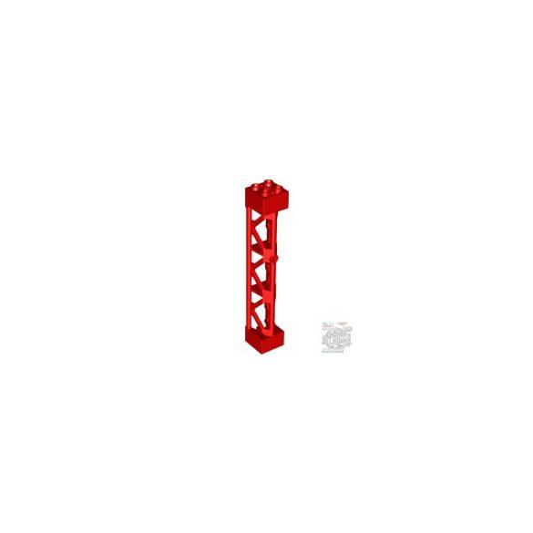 Lego Lattice Tower 2X2X10 W/Cross, Bright red