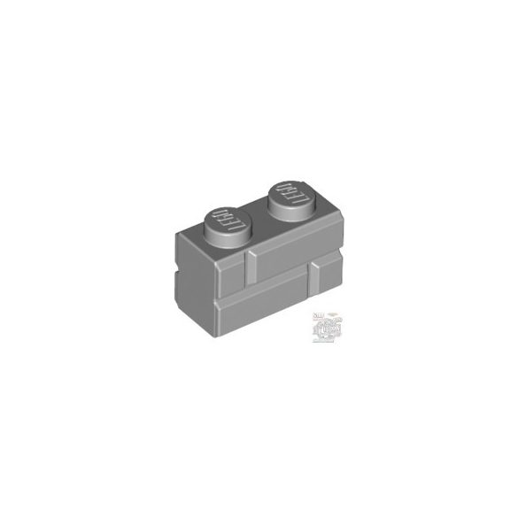 Lego Profile Brick 1X2 Single Gro., Medium stone grey