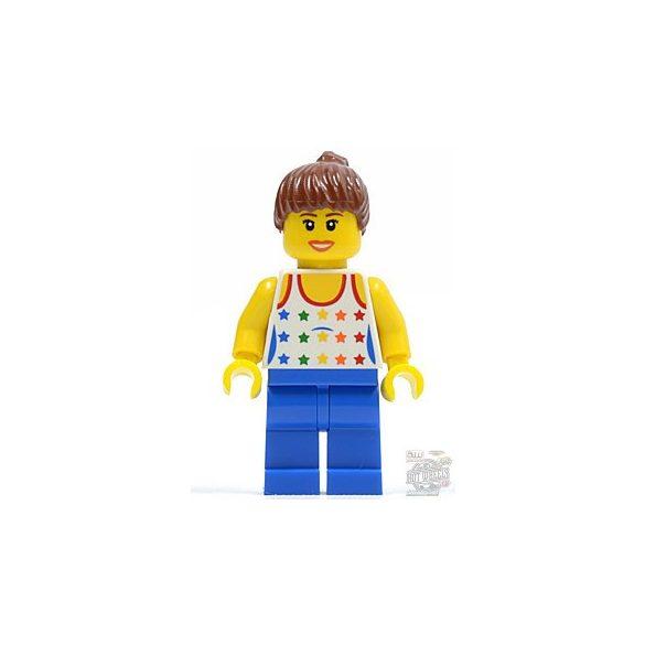 Lego figura City - Shirt with Female Rainbow Stars Pattern